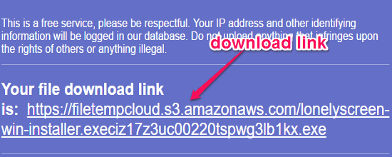 Temporary Cloud Storage to Store 1GB Files Online for 24 Hours