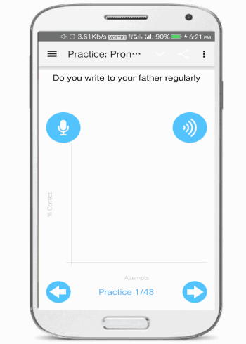 english pronunciation training- android apps to improve accents