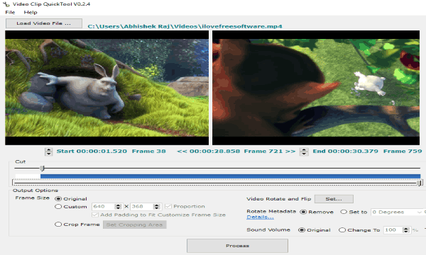 Free Software To Cut, Crop, Rotate, Flip Videos