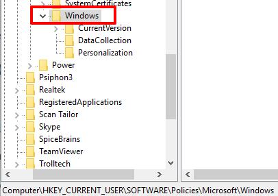 go to windows key