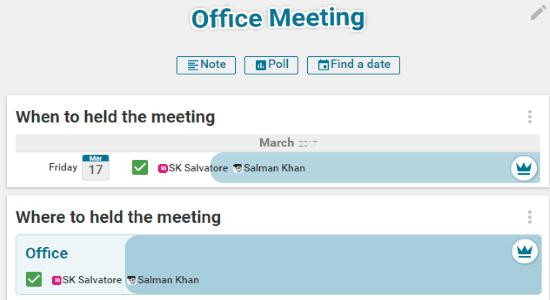 group planning website