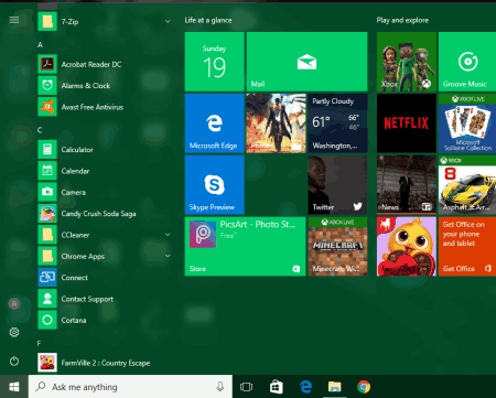 how to disable start menu and taskbar color change in windows 10