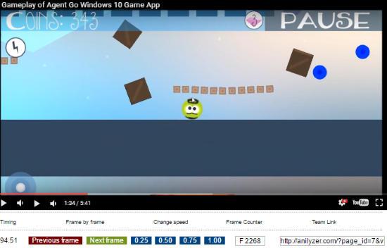 how to play youtube video frame by frame- anilyzer