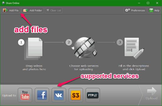 Free Video Uploader for Facebook, YouTube, VK, S3, and FTP