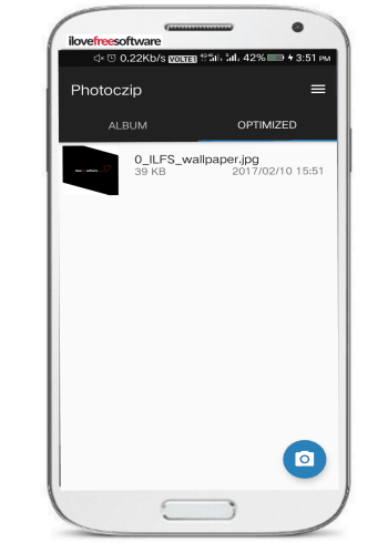 photoczip- reduce size of photos on Android