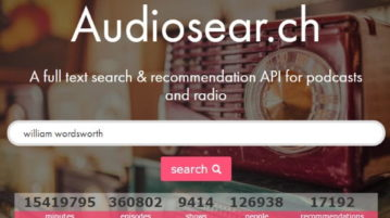 podcast search engine to search content spoken of podcast- audiosearch homepage- featured