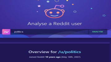 reddit user analyzer to see top subreddits, submissions