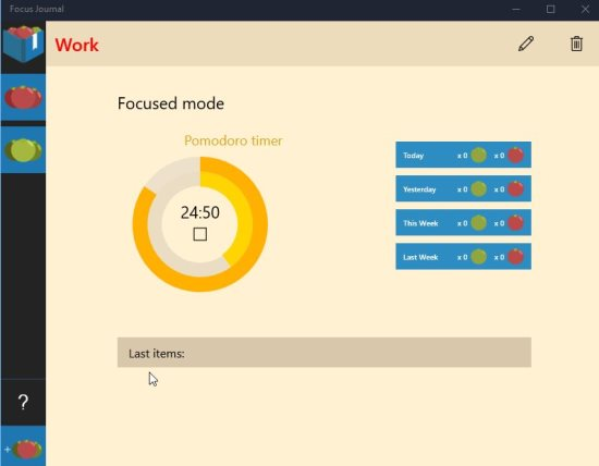 Windows 10 Pomodoro Timer App which helps you Focus on Tasks