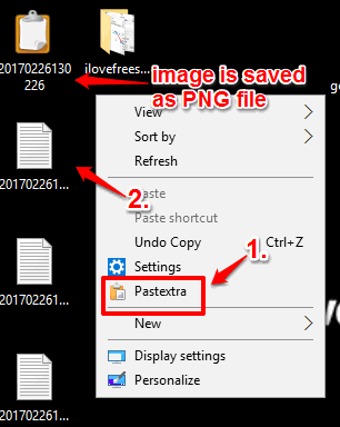 save copied text or image directly as a file using pastextra software