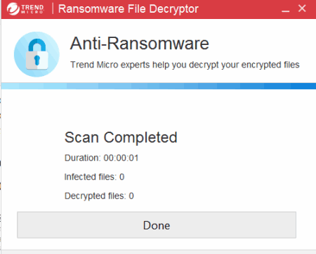 scanning process to decrypt files