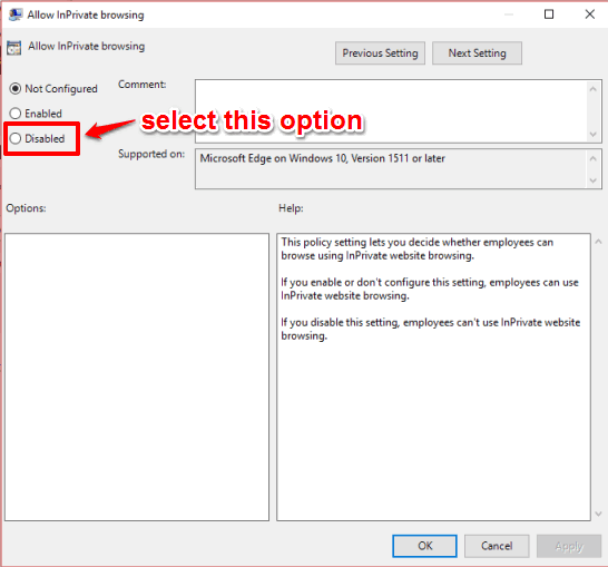 select disabled option