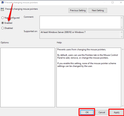 select enabled option and save changes