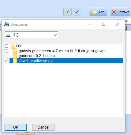 select zip files