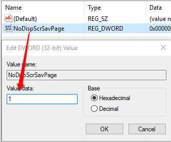set 1 as value data and then save