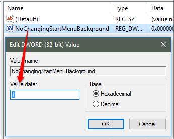 set 1 in value data