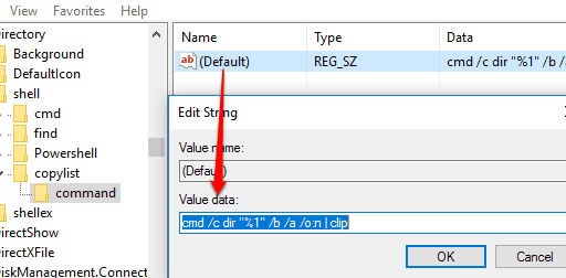 set value data and save changes