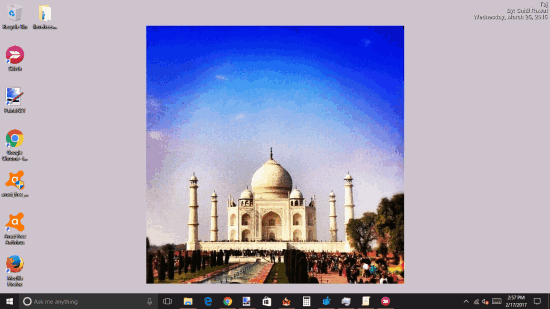 show Instagram photos as desktop wallpaper in windows pc