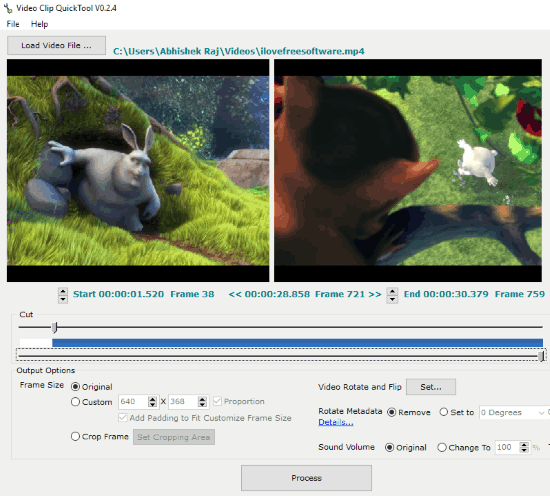 free video editor to cut crop rotate videos