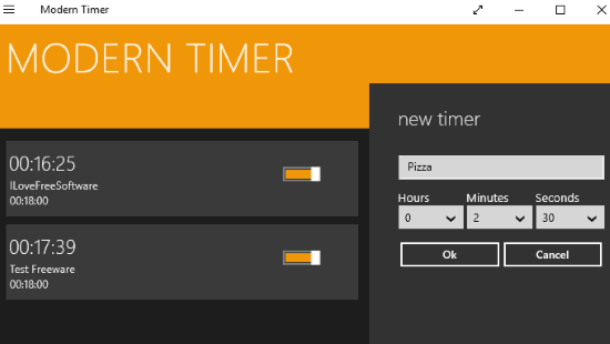 windows 10 multi timer apps- modern timer