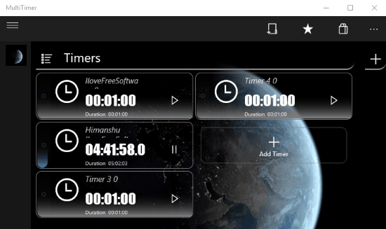 windows 10 multi timer apps- multi timer