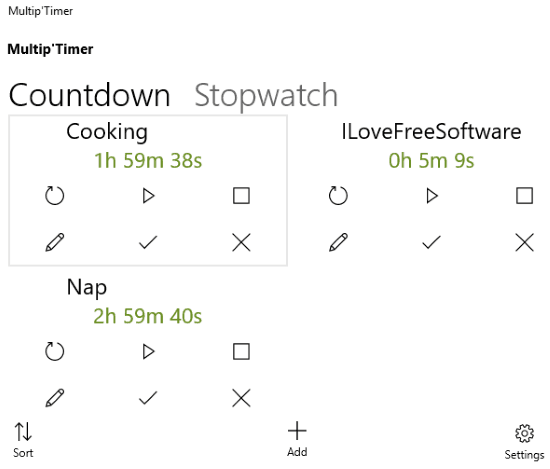 windows 10 multi timer apps- multip'timer