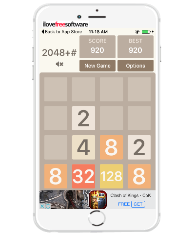 iphone number puzzle game similar to 2048 Android game