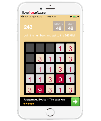 5 free iphone number puzzle games similar to 2048 Android game- 243 game iphone