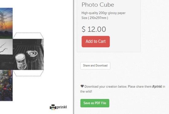 make 3d photo cube of instagram photos