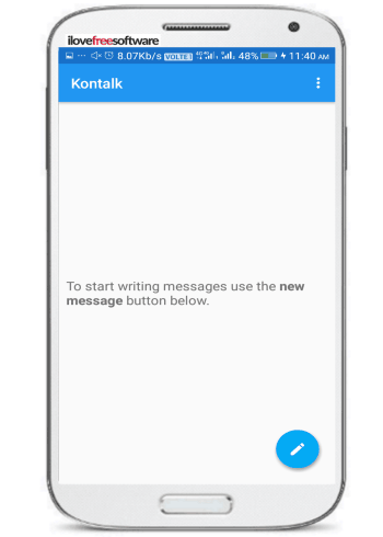 5 free open source messengers for Android to chat securely- kontalk messenger- encrypt messages