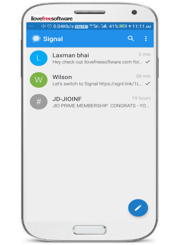 5 free open source messengers for Android to chat securely- signal private messenger