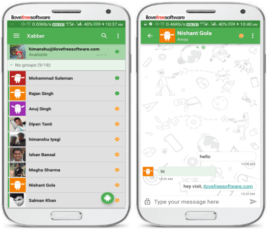 5 free open source messengers for Android to chat securely- xabber chats