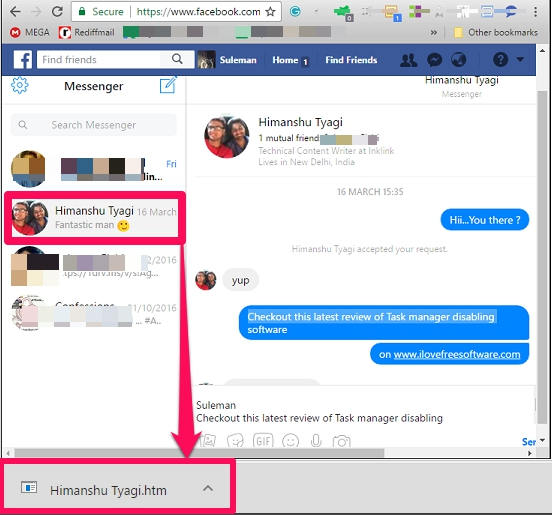 How To Download Facebook Chat To PC