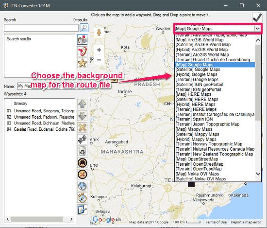 ITN Converter map adding waypoints