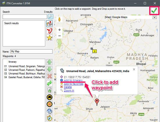 ITN Converter map adding_waypoint