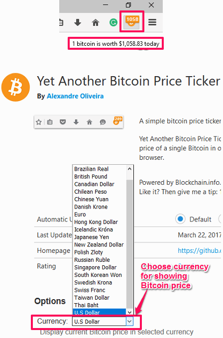 cryptocurrency price tracker firefox