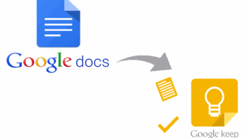 add notes to google keep from google docs