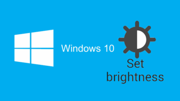 automatically adjust screen brightness in Windows 10