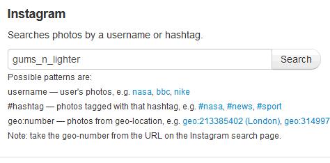 enter instagram username
