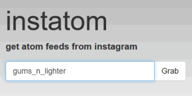 enter the instagram username of a person