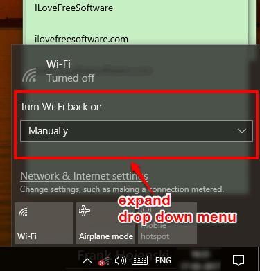 expand drop down menu to set schedule time