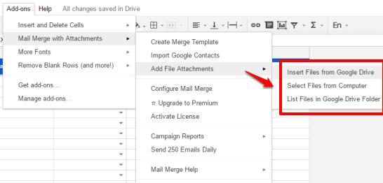 file attachment options