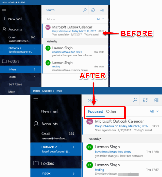 How To Turn On Focused Inbox in Windows 10 Mail App