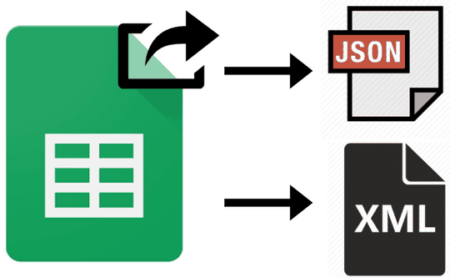 how to export google sheet data as XML and JSON file