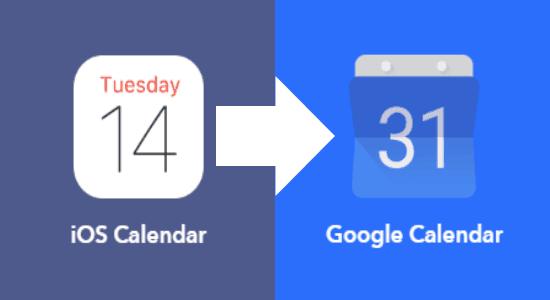 iOS Calendar To Google Calendar