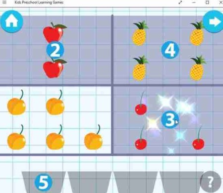 kids preschool learning games match the numbers
