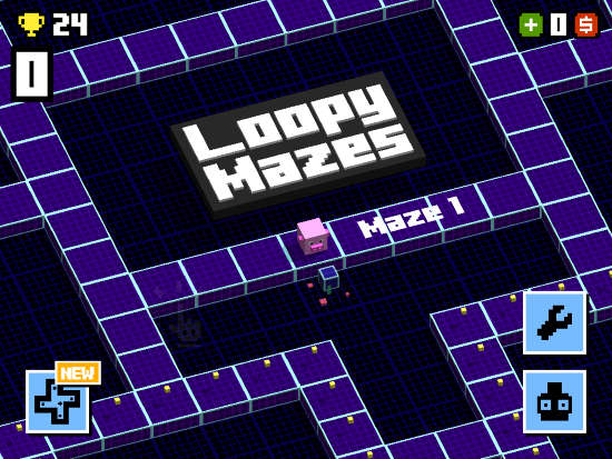 loopy mazes 256 ipad pacman game