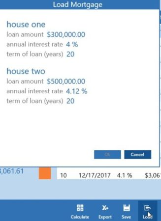 Windows 10 Mortgage Calculator App to Calculate Amortization Schedule