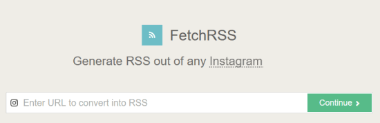 paste instagram profile url