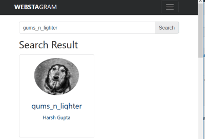 search for instagram user