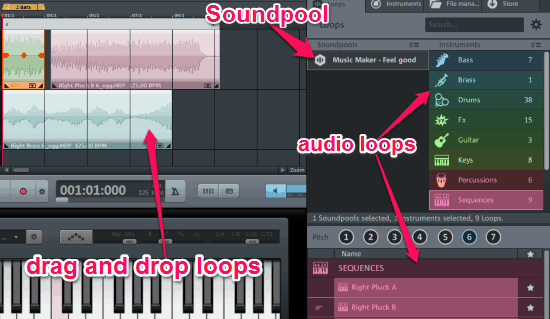 Free Powerful Music Maker with Soundpool, Synthesizer